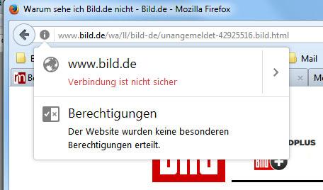 bild.de kein HTTPS